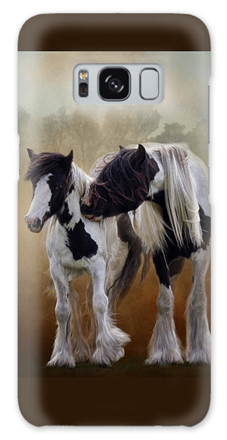 Gypsy Horse Galaxy S8 Case featuring the digital art Sibling Rivalry by Kimberly Stevens