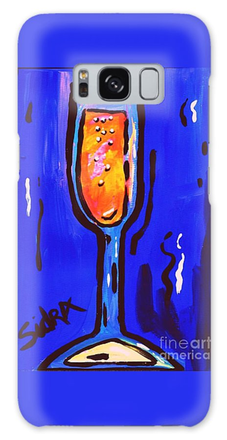 Champagne Galaxy S8 Case featuring the painting Sidzart Pop Art Series 2002 Champagne Celebration by Sidra Myers