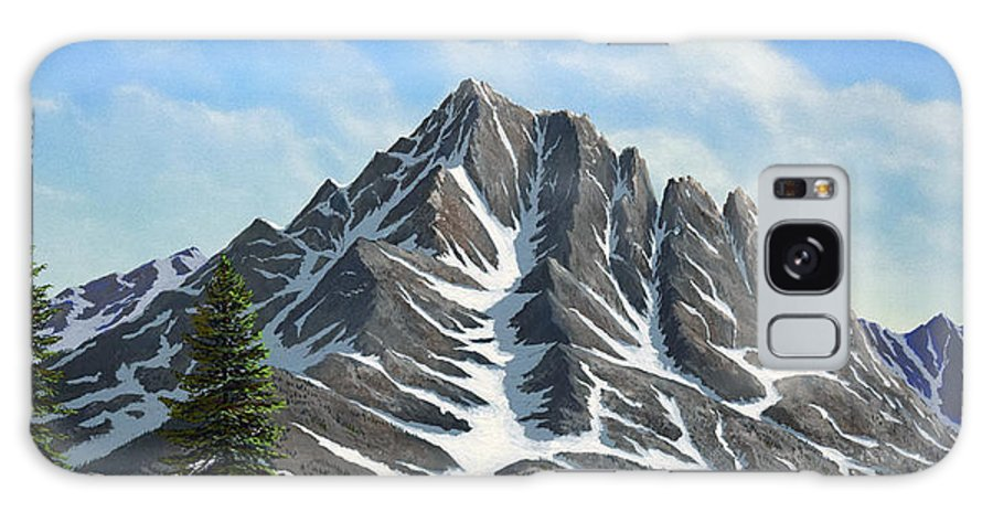 Mountains Galaxy S8 Case featuring the painting Sierra Peaks by Frank Wilson
