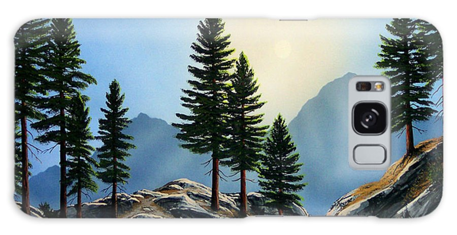 Landscape Galaxy Case featuring the painting Sierra Sentinals by Frank Wilson