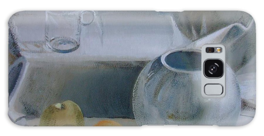 Still Life Galaxy Case featuring the painting Silence by Elena Oleniuc