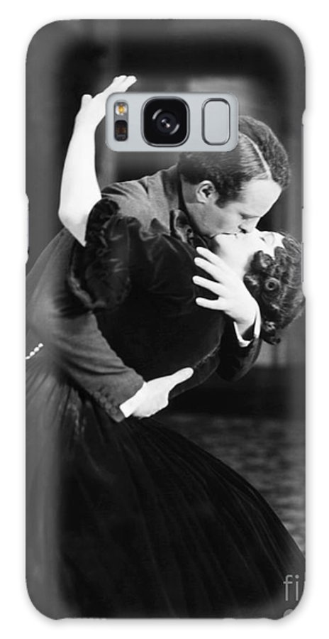 -kissing- Galaxy S8 Case featuring the photograph Silent Film Still by Granger
