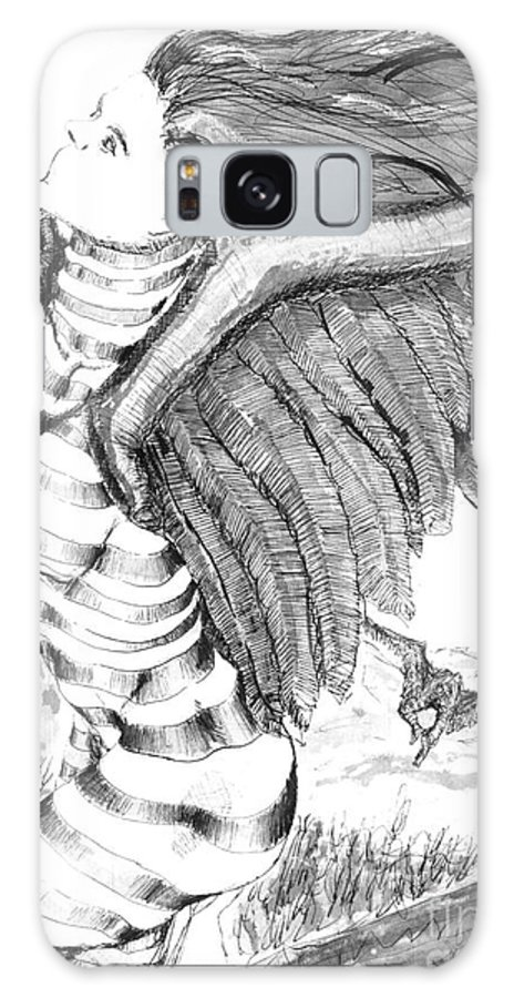 Surreal Galaxy S8 Case featuring the drawing Silent Flight by Ron Bissett