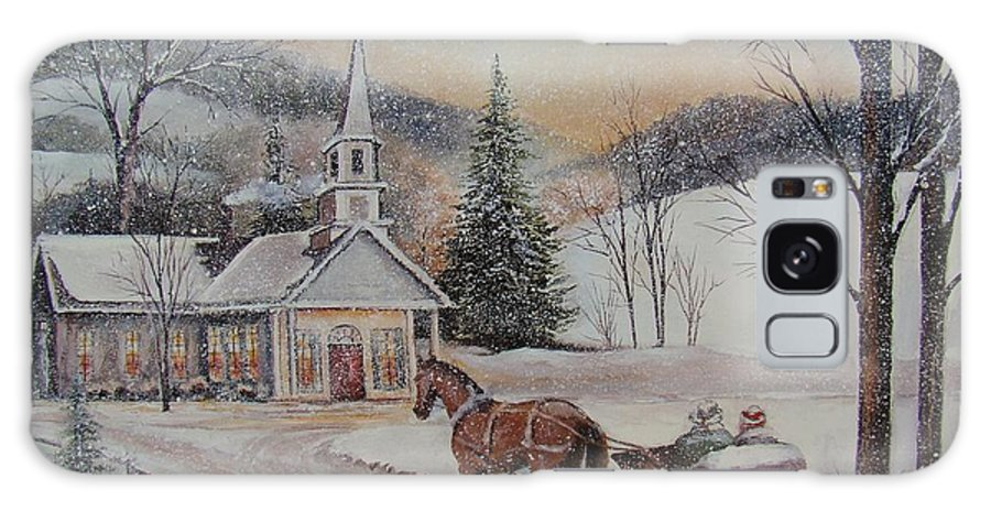 Charles Roy Smith Galaxy S8 Case featuring the painting Silent Night by Charles Roy Smith