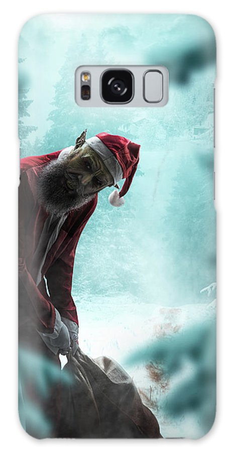Galaxy S8 Case featuring the digital art Silent Night Unholy Night by Clinton Lofthouse