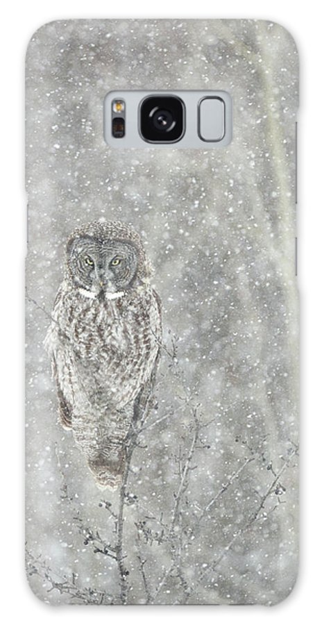 Owl Galaxy S8 Case featuring the photograph Silent Snowfall Portrait II by Everet Regal