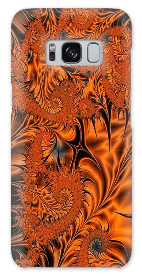 Silk Galaxy S8 Case featuring the digital art Silk In Orange by Ron Bissett