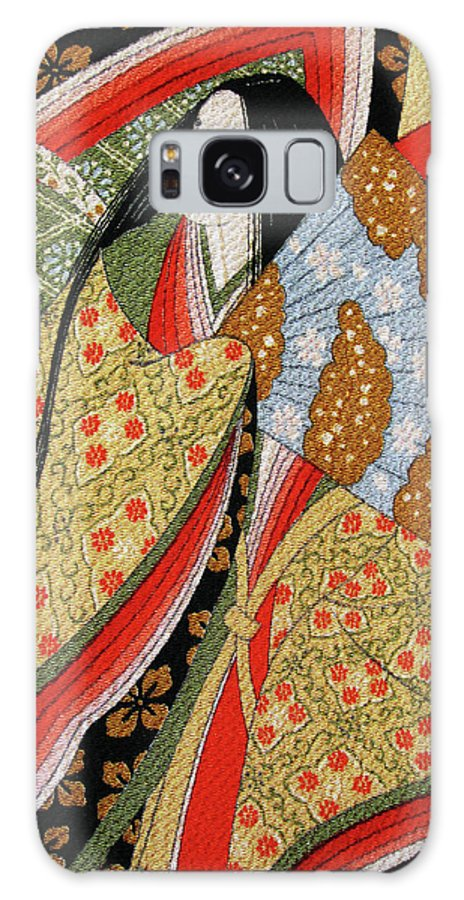 Japanese Art Galaxy S8 Case featuring the photograph Silk Painting by Eena Bo