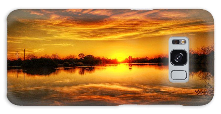 Arizona Galaxy S8 Case featuring the photograph Silky Sunset by Saija Lehtonen