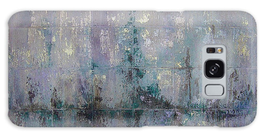 Abstract Galaxy Case featuring the painting Silver And Silent by Shadia Derbyshire