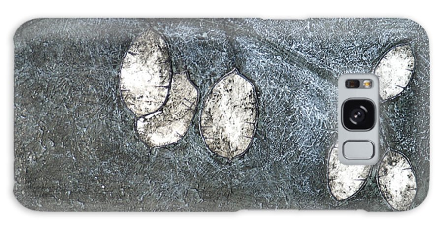 Mono Print Galaxy Case featuring the mixed media Silver Dollar Plant by Diana Davenport