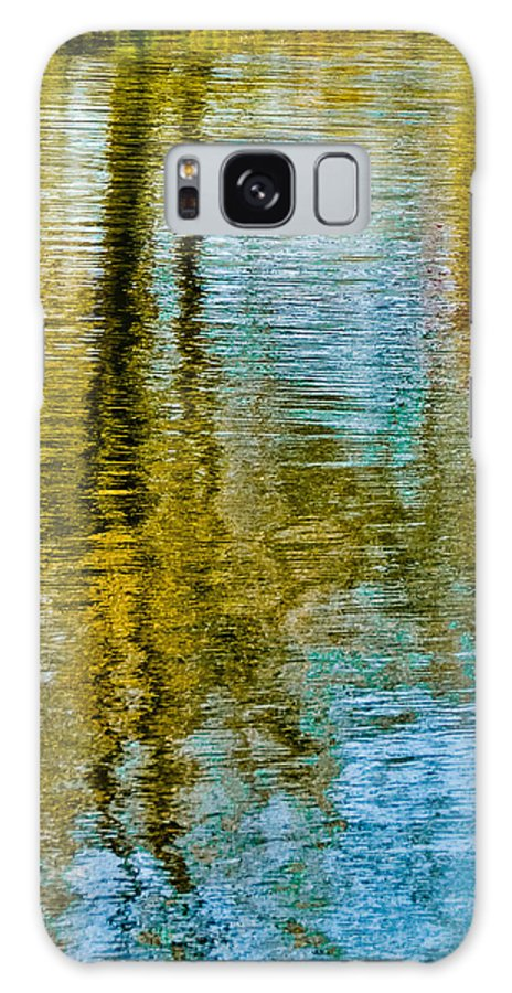 Silver Galaxy Case featuring the photograph Silver Lake Autum Tree Reflections by Michael Bessler