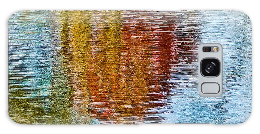 Silver Galaxy Case featuring the photograph Silver Lake Autumn Reflections by Michael Bessler