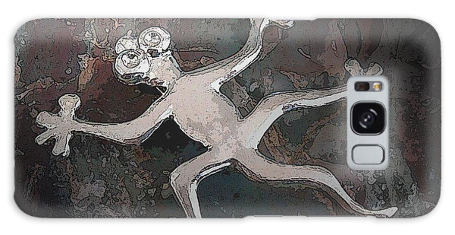 Silver Galaxy S8 Case featuring the digital art Silver Lizard by Merja Waters