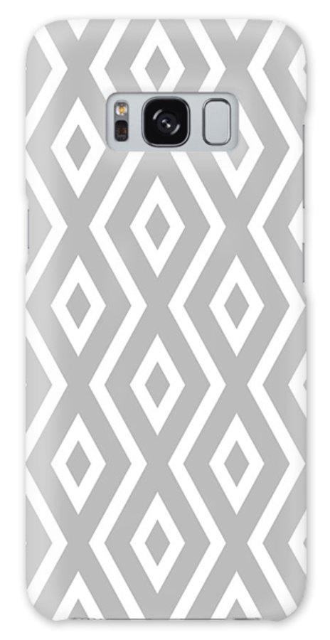 Silver Galaxy Case featuring the mixed media Silver Pattern by Christina Rollo