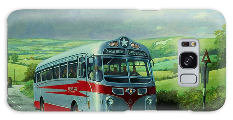 Commission A Painting Galaxy S8 Case featuring the painting Silver Star Leyland Coach by Mike Jeffries