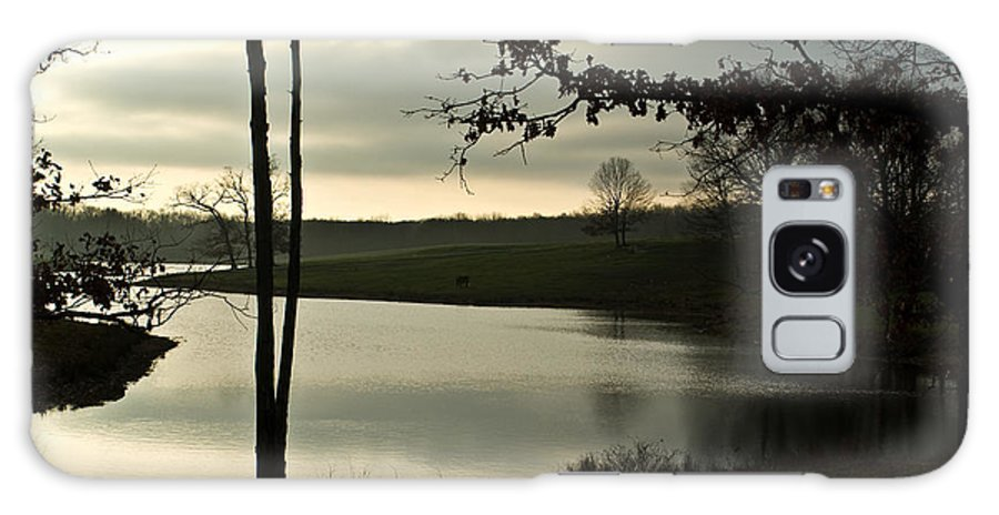 Lake Galaxy S8 Case featuring the photograph Silver Winter Lake by Douglas Barnett
