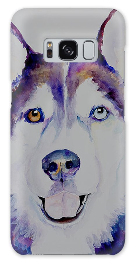 Siberian Husky Galaxy S8 Case featuring the painting Simba by Pat Saunders-White