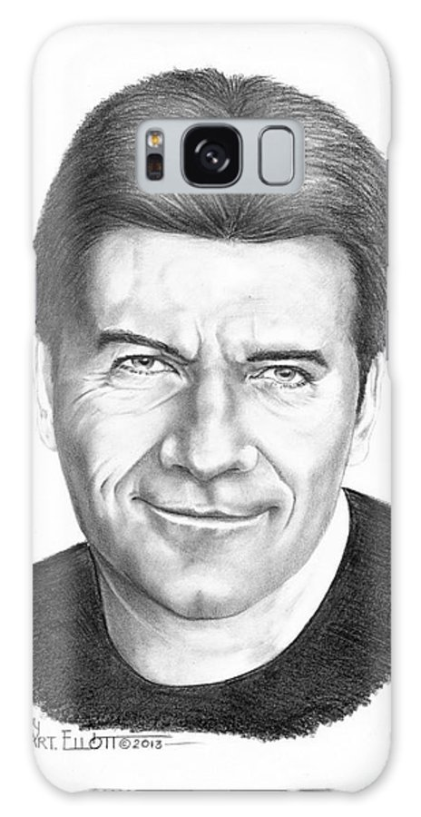 Portrait Galaxy S8 Case featuring the drawing Simon Cowell by Murphy Elliott