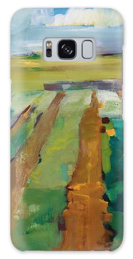 Impressionistic Landscape Galaxy S8 Case featuring the painting Simple Fields by Michele Norris