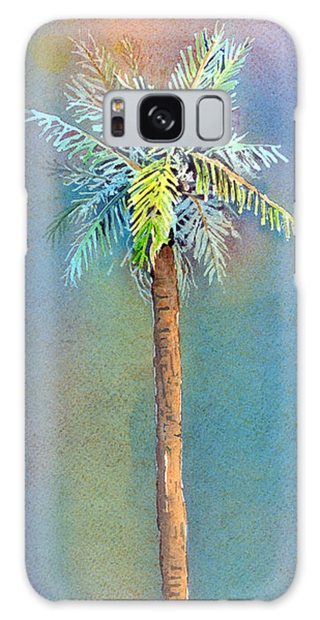 Palm Galaxy Case featuring the painting Simple Palm Tree by Arline Wagner