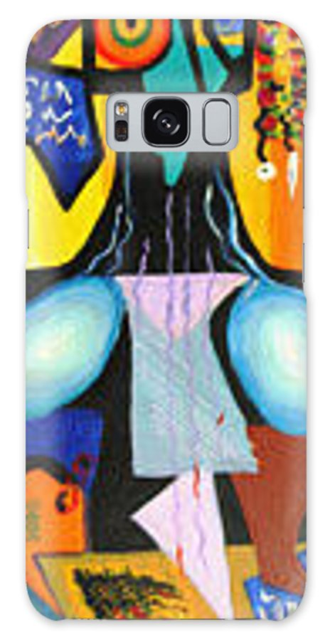 Abstract Galaxy S8 Case featuring the painting Simple Tree by Olga Alexeeva