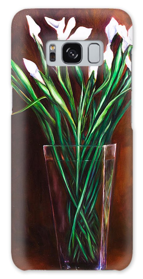 Iris Galaxy Case featuring the painting Simply Iris by Shannon Grissom