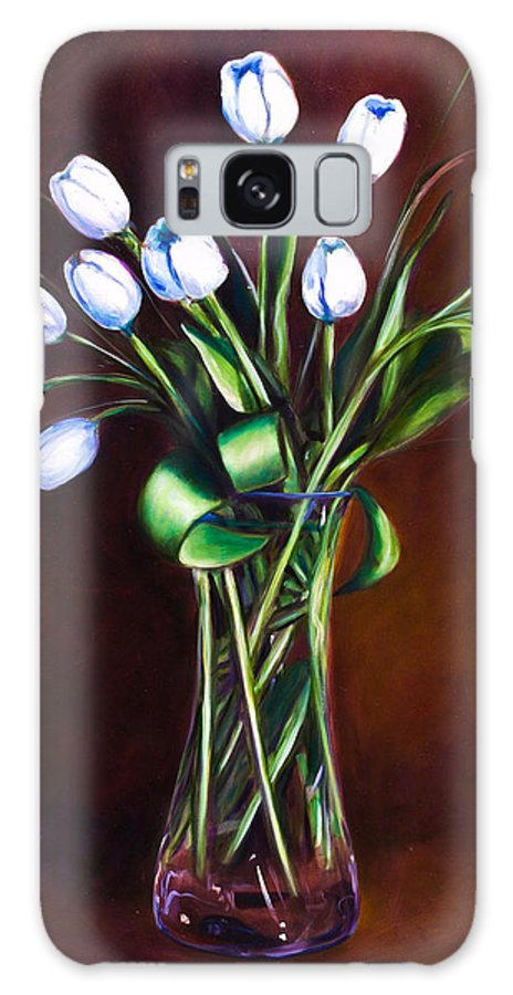 Shannon Grissom Galaxy S8 Case featuring the painting Simply Tulips by Shannon Grissom