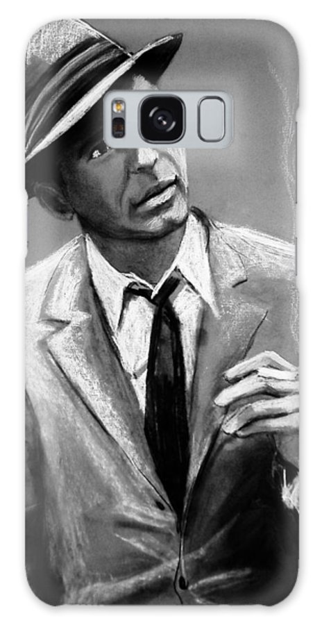 Frank Sinatra Galaxy S8 Case featuring the drawing Sinatra by Laura Rispoli