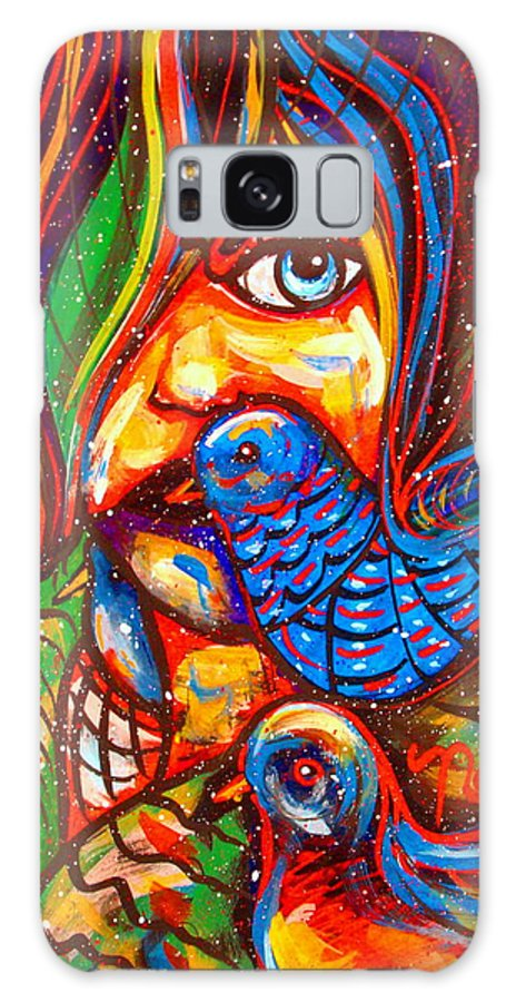 Fantasy Galaxy S8 Case featuring the painting Sing Me A Love Song by Natalie Holland