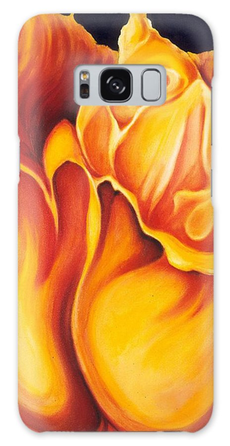 Surreal Tulip Galaxy S8 Case featuring the painting Singing Tulip by Jordana Sands