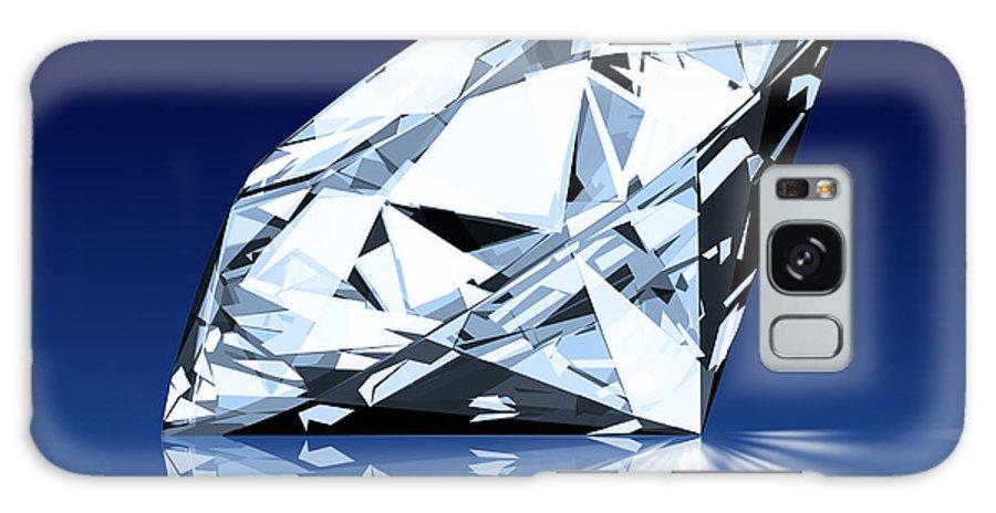 Background Galaxy S8 Case featuring the photograph Single Blue Diamond by Setsiri Silapasuwanchai