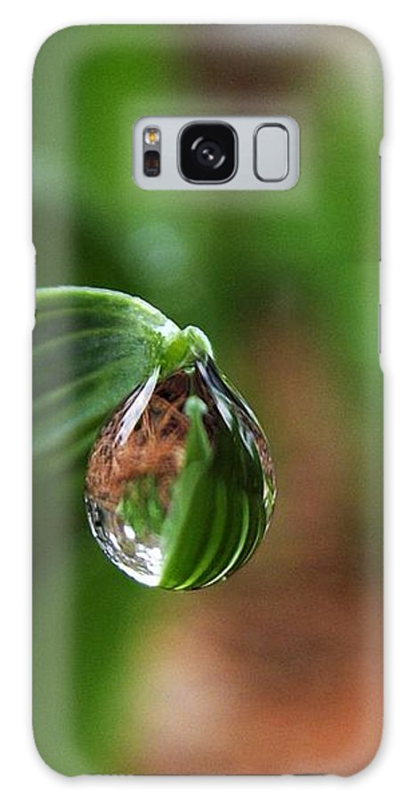 Rain Drop Galaxy S8 Case featuring the photograph Single Drop Of Rain Water by Dee Winslow