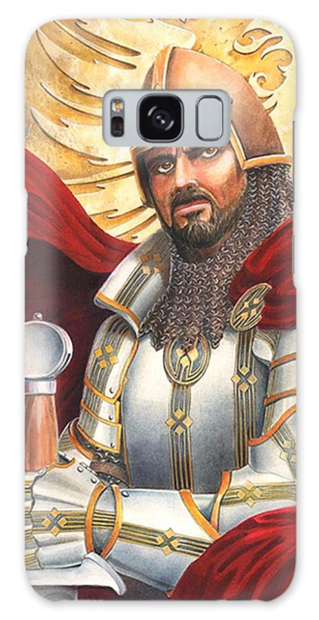 Swords Galaxy Case featuring the drawing Sir Gawain by Melissa A Benson