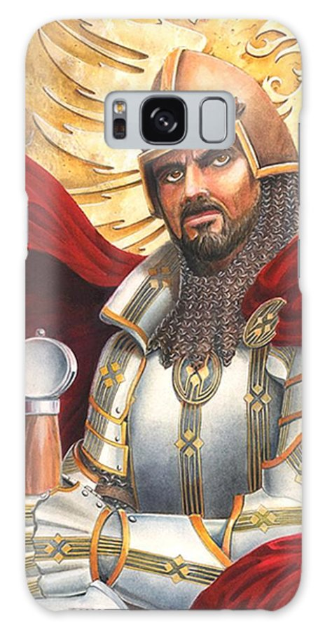 Swords Galaxy S8 Case featuring the drawing Sir Gawain by Melissa A Benson