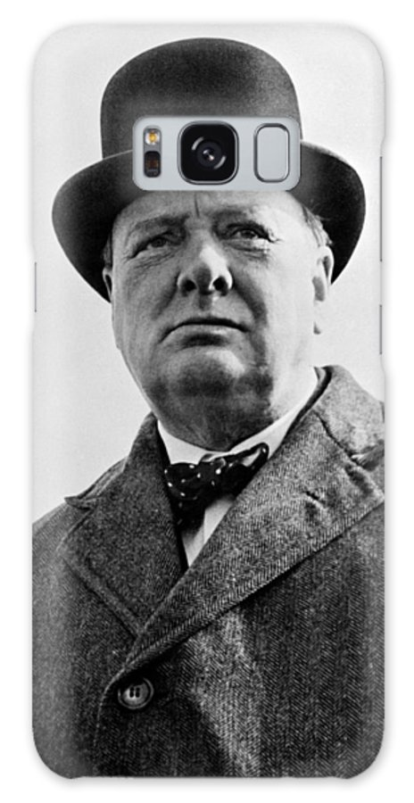 Wwii Galaxy S8 Case featuring the photograph Sir Winston Churchill by War Is Hell Store