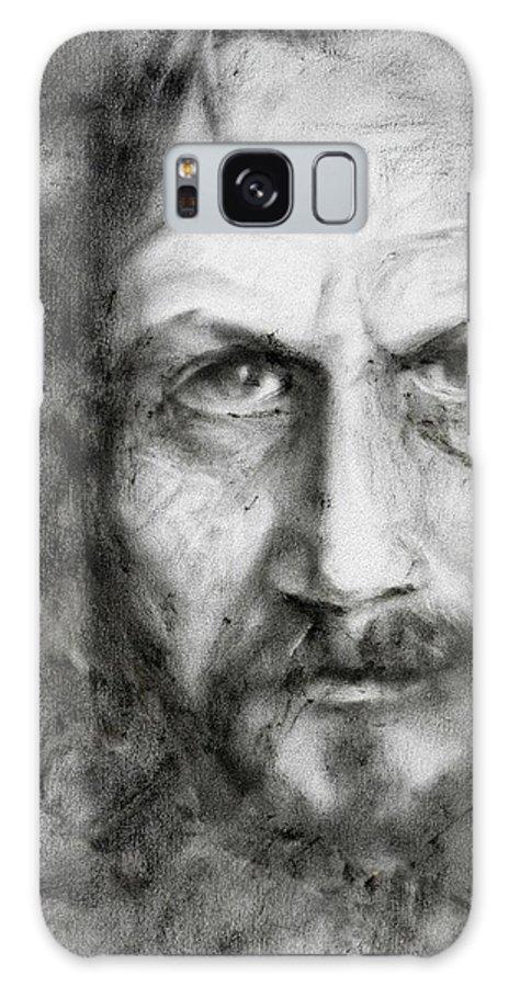 Portrait Galaxy S8 Case featuring the painting Sirius Black by Kira Jensikbayeva
