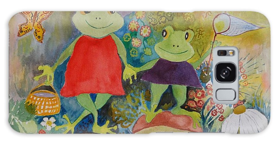 Frogs Galaxy S8 Case featuring the painting Sisters by Irina Stroup