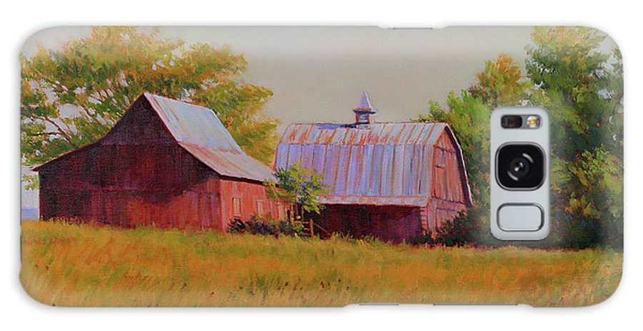 Barns Galaxy S8 Case featuring the painting Sisters by Keith Burgess