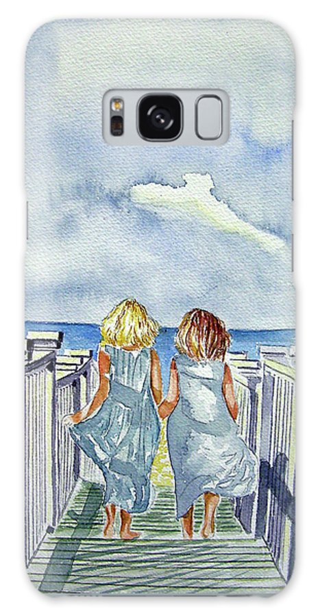 Sisters Galaxy S8 Case featuring the painting Sisters by Paul Sandilands