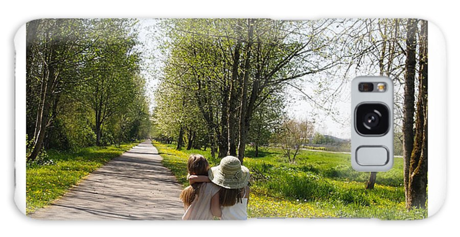 Sisters Galaxy S8 Case featuring the photograph Sisters Strolling by Nancy Clendaniel