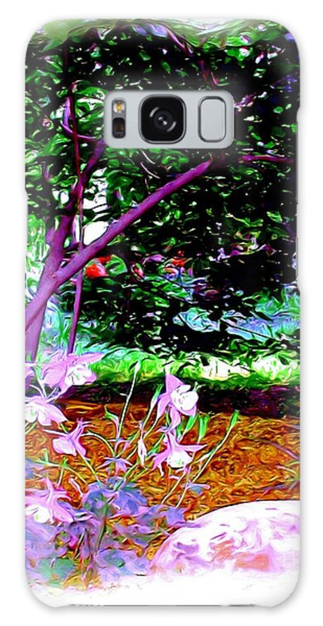 Fine Art Galaxy Case featuring the painting Sitting In The Shade by Patricia Griffin Brett