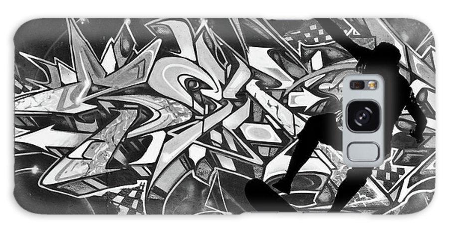 Skateboarder Galaxy S8 Case featuring the photograph Skateboarder On Graffitti by Dawn OConnor