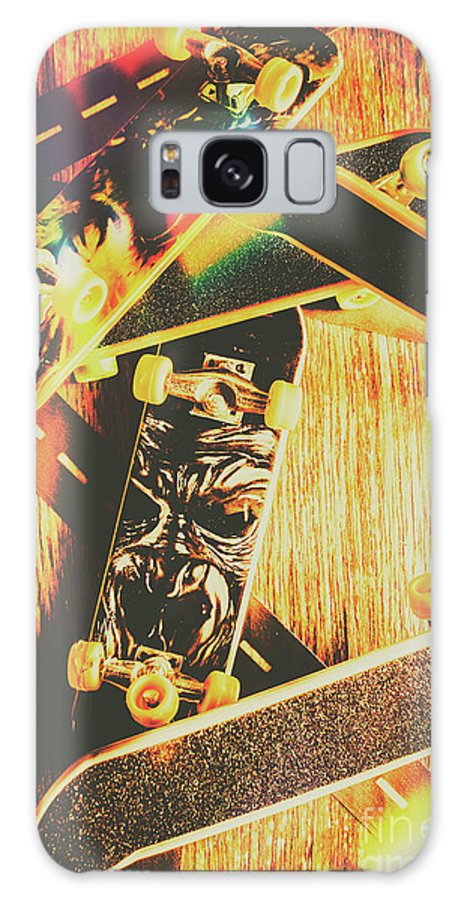 Skateboard Galaxy Case featuring the photograph Skateboarding Tricks And Flips by Jorgo Photography - Wall Art Gallery