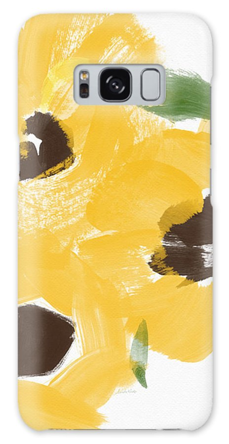Sunflowers Galaxy Case featuring the painting Sketchbook Sunflowers- Art By Linda Woods by Linda Woods