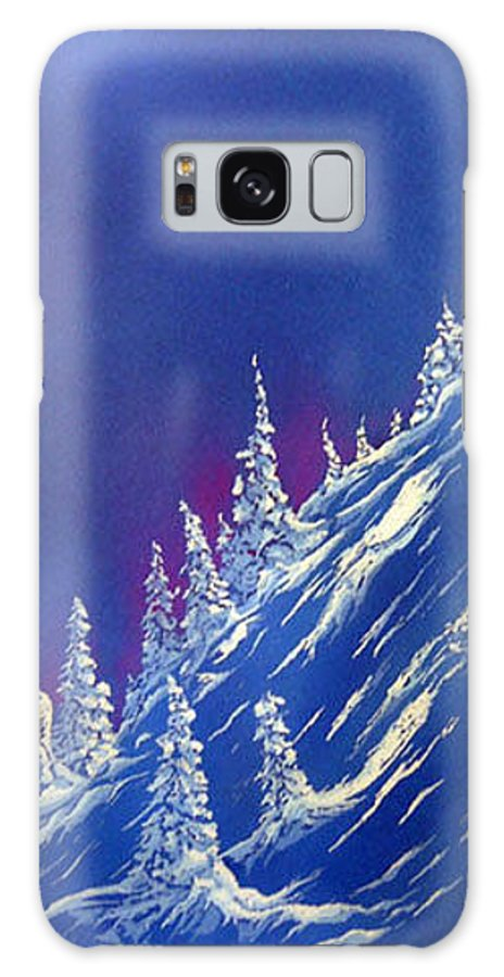 Ski Galaxy S8 Case featuring the painting Ski Heaven Enhanced by Blaine Filthaut