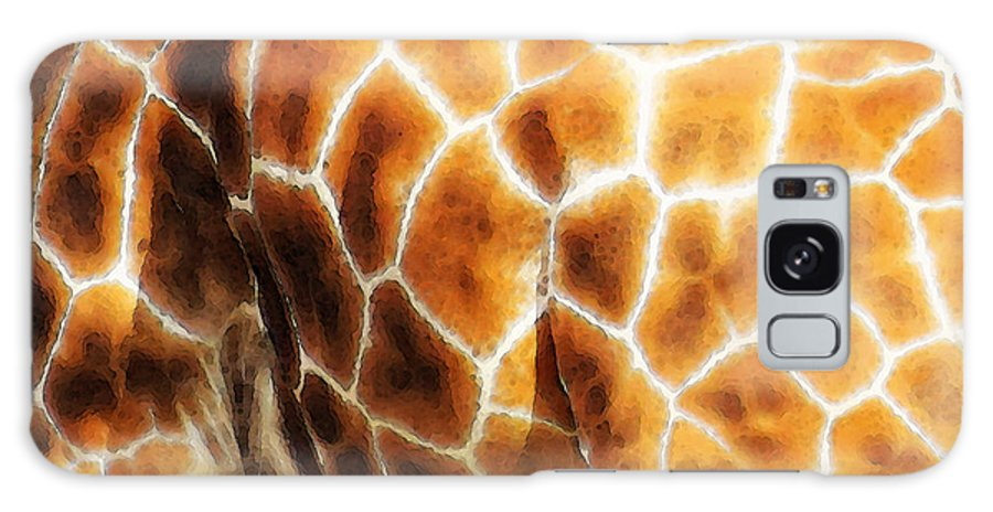 Giraffe Galaxy S8 Case featuring the painting Skin Deep - Buy Giraffe Art Prints by Sharon Cummings