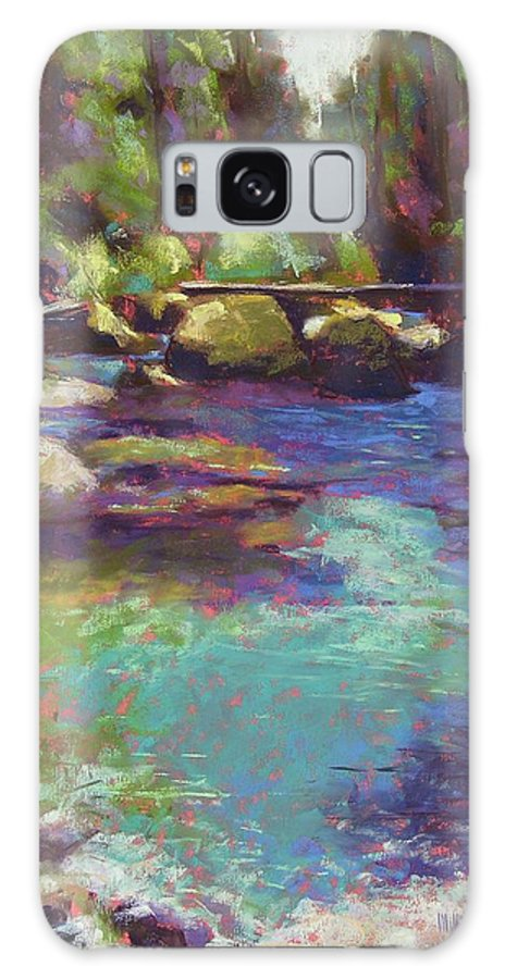Landscape Galaxy S8 Case featuring the painting Skokomish River by Mary McInnis