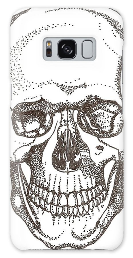 Skull Galaxy S8 Case featuring the drawing Skull by Americo Salazar