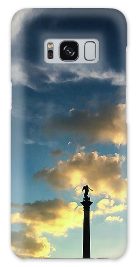 Sky Galaxy S8 Case featuring the photograph Sky Clouds And Statue In Stuttgart Germany by Matthias Hauser